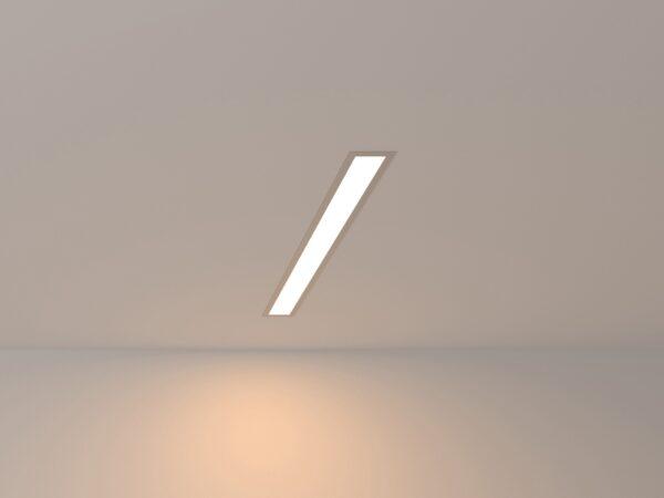 101-300-53 / Линейный светодиодный встраиваемый светильник 53см 10W 3000K матовое серебро