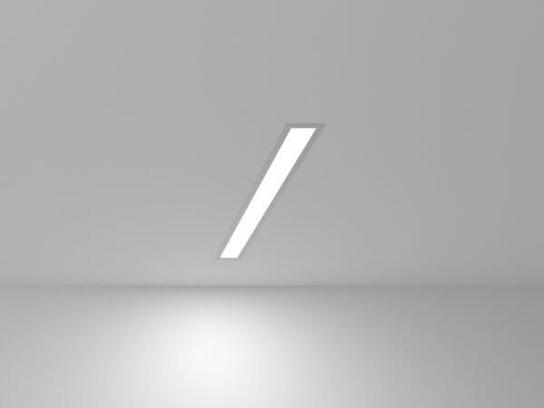 101-300-53 / Линейный светодиодный встраиваемый светильник 53см 10W 6500K матовое серебро