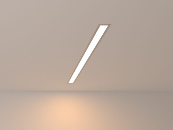 101-300-78 / Линейный светодиодный встраиваемый светильник 78см 15W 3000K матовое серебро
