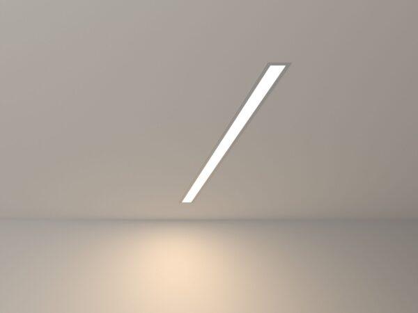 100-300-78 / Линейный светодиодный встраиваемый светильник 78см 15W 4200К матовое серебро