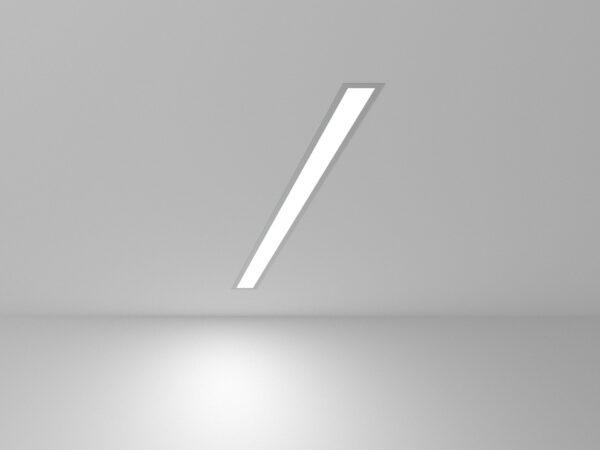 101-300-78 / Линейный светодиодный встраиваемый светильник 78см 15W 6500K матовое серебро