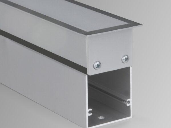 100-300-103 / Линейный светодиодный встраиваемый светильник 103см 20W 6500К матовое серебро