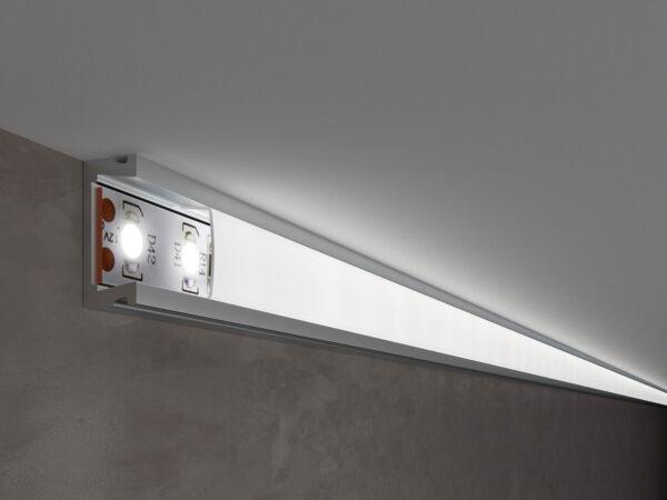 LL-2-ALP006 /  Накладной алюминиевый профиль для LED ленты (под ленту до 11mm)