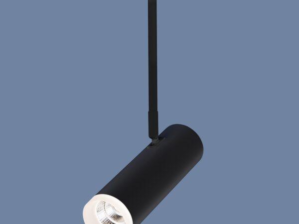 DLS022 9W 4200K / Светильник светодиодный стационарный черный матовый