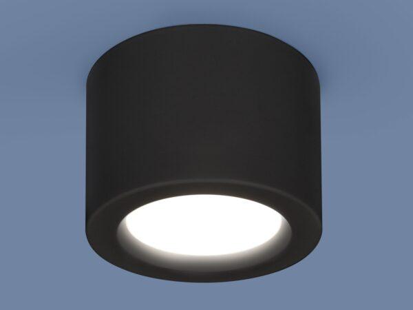 DLR026 6W 4200K / Светильник светодиодный стационарный черный матовый