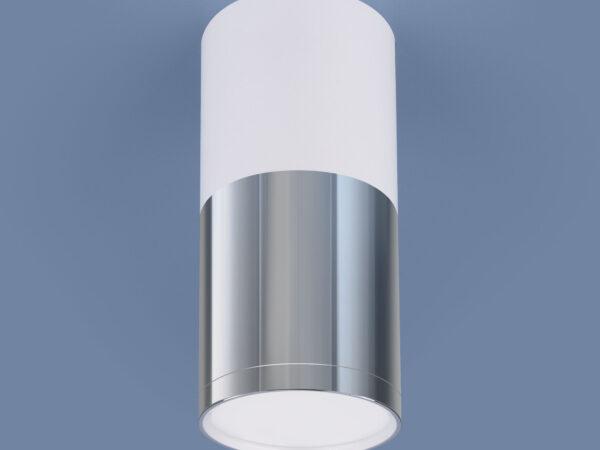 DLR028 6W 4200K / Светильник светодиодный стационарный белый матовый/хром/хром