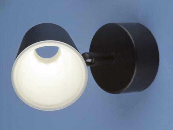 DLR025 5W 4200K / Светильник светодиодный стационарный черный матовый