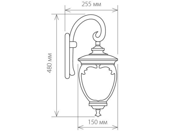 GLYF-8024D / Светильник садово-парковый черное золото