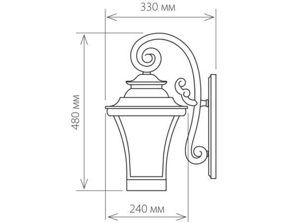 GLXT-1408D / Светильник садово-парковый Libra D венге