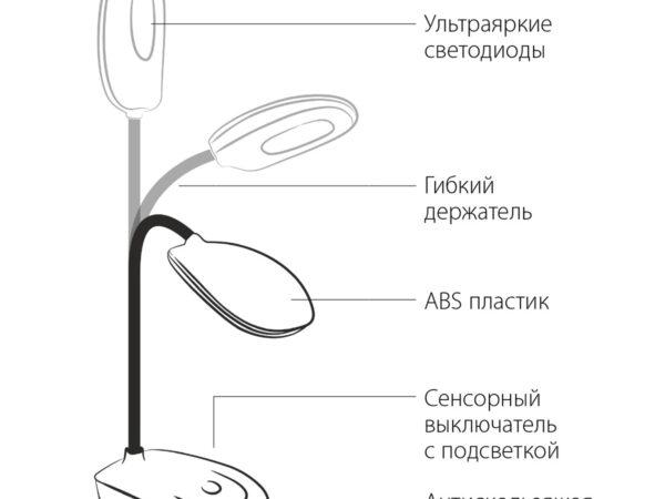 TL90191 / Светильник светодиодный настольный красный