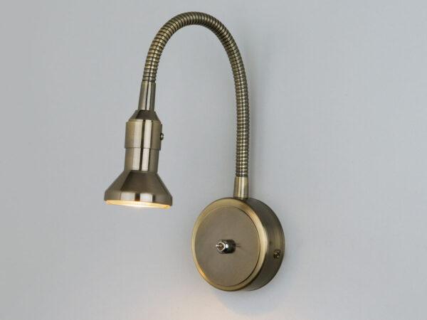 1215 MR16 / Светильник настенный Plica  бронза/золото