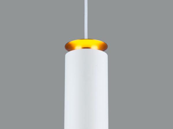 DLS021 9+4W 4200К / Светильник светодиодный стационарный белый матовый/золото