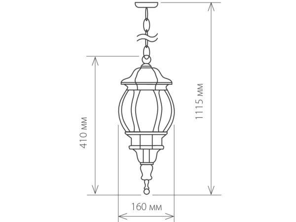 GL 1001H / Светильник садово-парковый 1001H черное золото / 1045