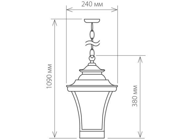 GLXT-1408H / Светильник садово-парковый Libra H венге