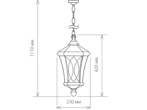 GLXT-1450H / Светильник садово-парковый Virgo H черное золото