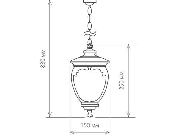 GLYF-8024H / Светильник садово-парковый белое золото