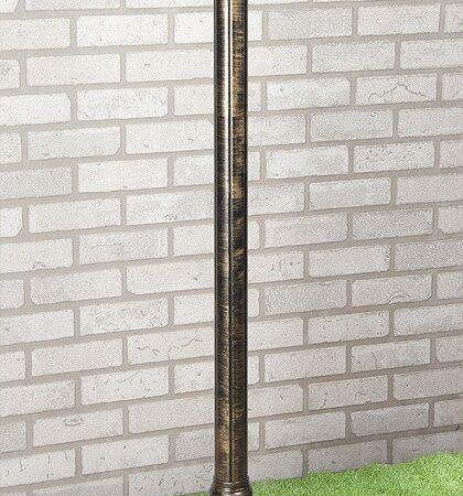 столб 120см / Светильник садово-парковый черное золото, арт. A023552