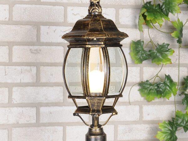 Уличный светильник 1043 черное золото 100W