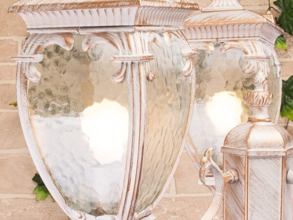 GLYF-8024F/3 / Светильник садово-парковый белое золото