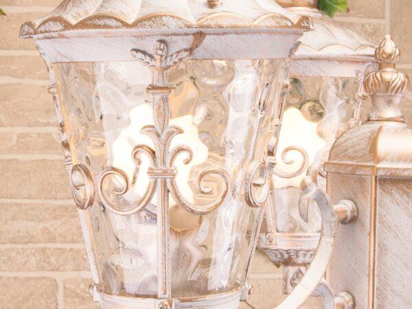 GLYF-8046F/3 / Светильник садово-парковый белое золото