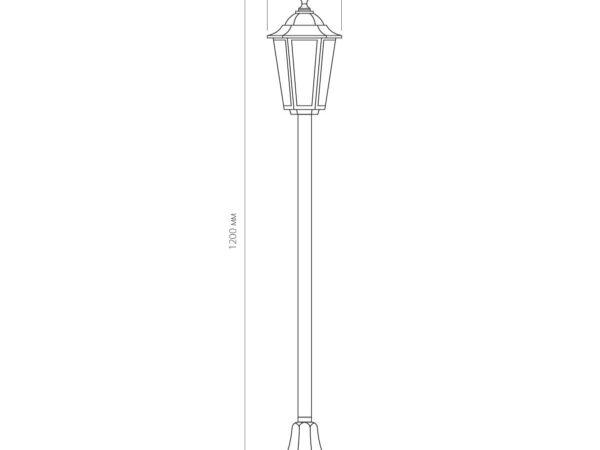 GL 1014F / Светильник садово-парковый 1014F черный