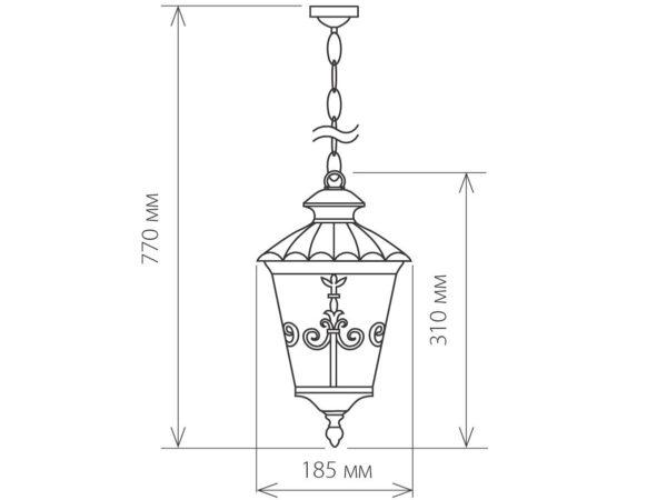 GLYF-8046H / Светильник садово-парковый черное золото