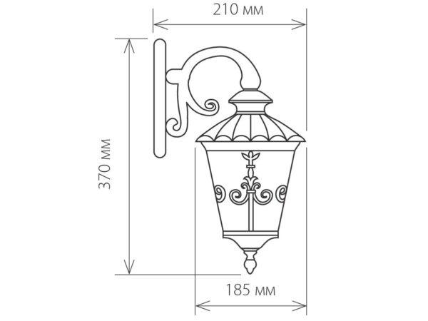 GLYF-8046D / Светильник садово-парковый черное золото