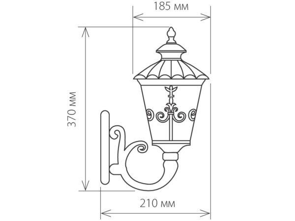 GLYF-8046U / Светильник садово-парковый черное золото