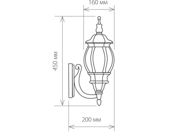 GL 1001U / Светильник садово-парковый 1001U черное золото / 9913-С