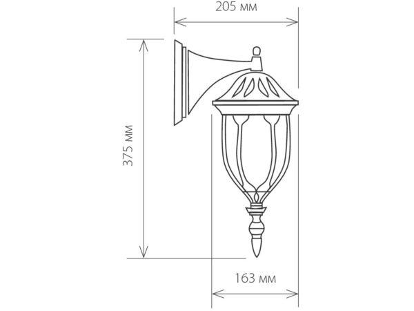 GL 1002D / Светильник садово-парковый 1002D черный / 9908-G