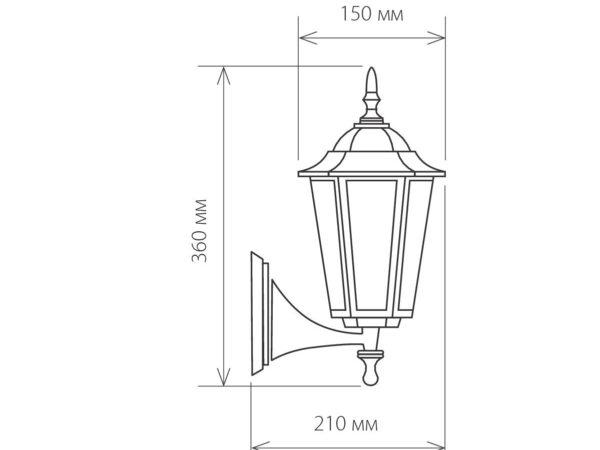 GL 1004U / Светильник садово-парковый 1004U черное золото