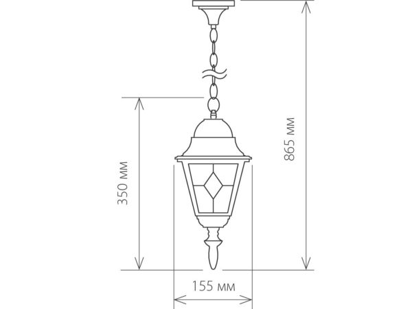 Vega H / Светильник садово-парковый черное золото