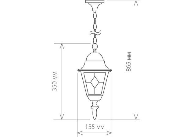 Vega H / Светильник садово-парковый черный