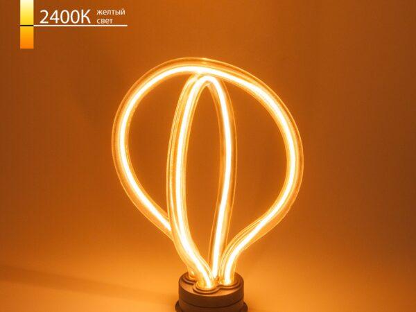 BL151/Светодиодная лампа Art filament 8W 2400K E27 double round