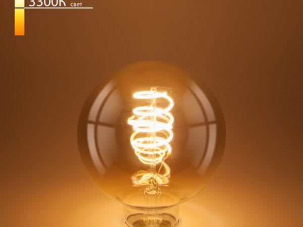 Classic FD 8W 3300K E27/ Светодиодная лампа G95 спираль тонированный