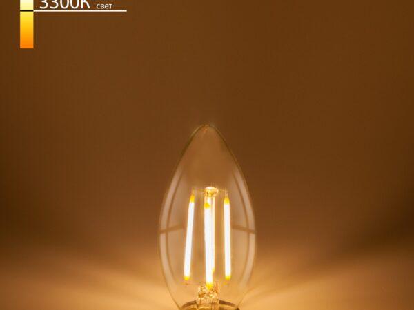 BL131 / Светодиодная лампа Свеча BL131 7W 3300K E14 (C35 прозрачный)