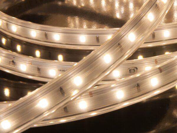 LS010 220V/ Лента светодиодная Premium 220V 9,6W 60Led 2835 IP65, 4200K белая, 50 м