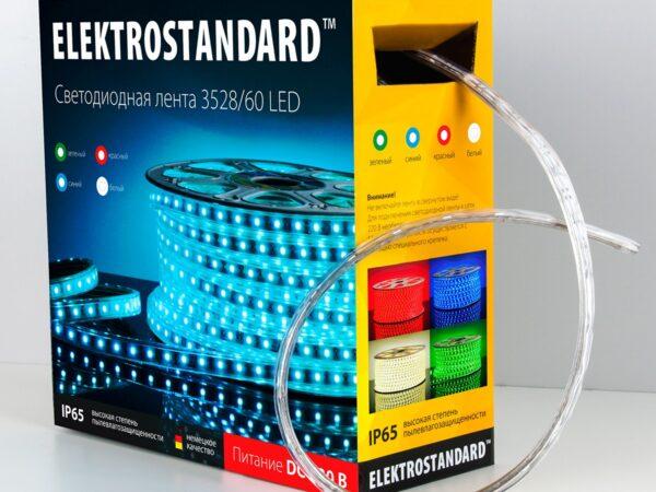 LSTR001 220V 4,4W IP65 / Лента светодиодная 220V 4,4W 60Led 3528 IP65 зеленый, 100 м