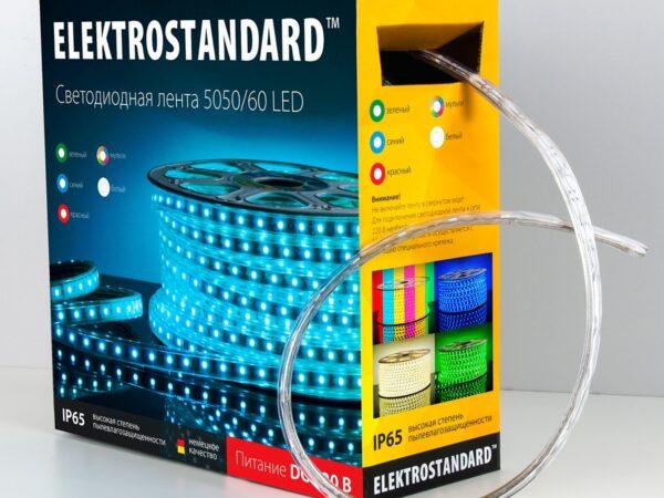 LSTR003 220V 14,4W IP65 / Лента светодиодная 220V 14,4W 60Led 5050 IP65 красный, 50 м