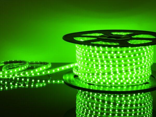 LSTR003 220V 14,4W IP65 / Лента светодиодная 220V 14,4W 60Led 5050 IP65 зеленый, 50 м