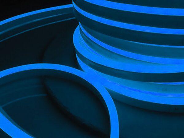LS001 220V / Лента светодиодная Гибкий неон  9.6W 120Led 2835 IP67 односторонний синий, 50 м