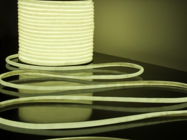LS003 220V / Лента светодиодная Гибкий неон 9.6W 144Led 2835 IP67 16mm 6500K круглый белый, 50 м