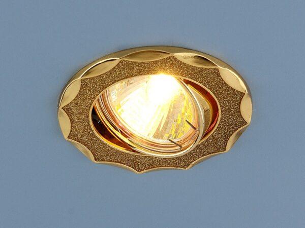 612  MR16 GD / Светильник встраиваемый золотой блеск/золото