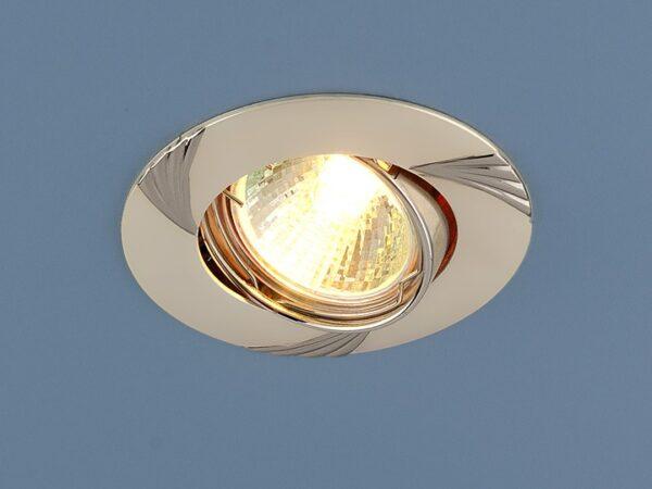 8004 MR16 PS/N / Светильник встраиваемый перл.серебро/никель