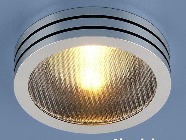 5153 MR16 CH/BK / Светильник встраиваемый хром/черный