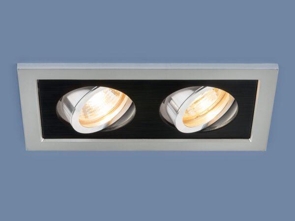 1031/2 MR16 / Светильник встраиваемый SL/BK серебро/черный