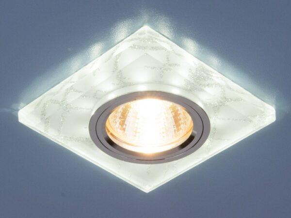 8361 MR16 WH/SL / Светильник встраиваемый белый/серебро