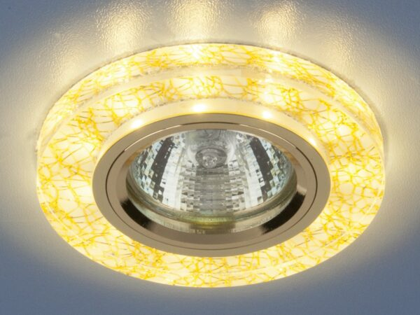 8371 MR16 WH/GD / Светильник встраиваемый белый/золото