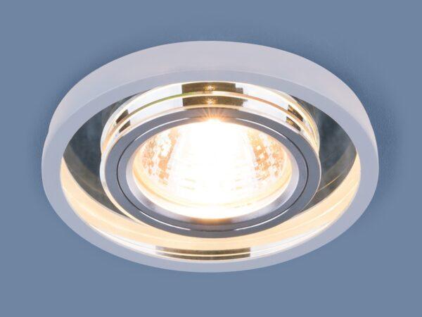 7021 MR16 / Светильник встраиваемый SL/WH зеркальный/белый