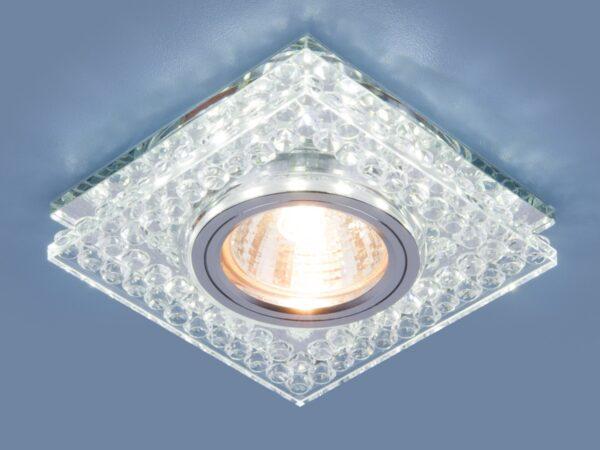 8391 MR16 / Светильник встраиваемый CL/SL прозрачный/серебро